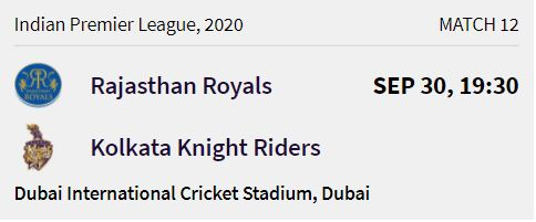Kolkata Knight Riders match 3 ipl 2020