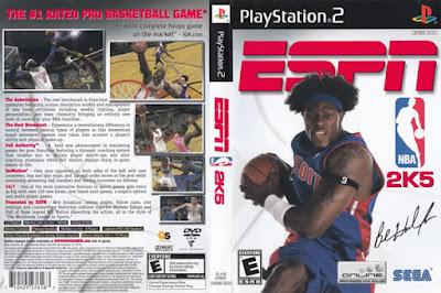 Descargar ESPN NBA 2K5 para PlayStation 2 en formato ISO región NTSC y PAL en Español Multilenguaje Enlace directo sin torrent. Es un baloncesto videojuego de simulación desarrollado por Visual Concepts y publicado por tanto Sega y Global Star Software. Fue lanzado en septiembre de 2004 para PlayStation 2 y Xbox en América del Norte, y febrero de 2005 en Europa. La sexta entrega de la NBA 2K serie, es el sucesor de ESPN NBA, y el predecesor de NBA 2K6. Ben Wallace de los Detroit Pistons es el atleta tapa; esto marca la primera vez en la serie que cualquier jugador, excepto Allen Iverson fue presentado como un atleta de portada. Es el último de NBA 2K juego para ser lanzado por Sega antes de que la compañía vendió Visual Concepts a Take Two Interactive, la formación de 2K Sports.