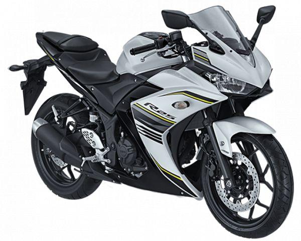 Yamaha R25 Racing white