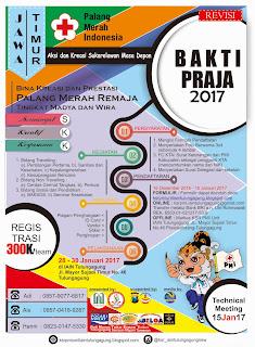 BAKTI PRAJA (Bina Kreasi dan Prestasi Palang Merah Remaja) 2017 se- Jawa Timur
