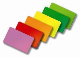 renkli kartlar, renk ısısı