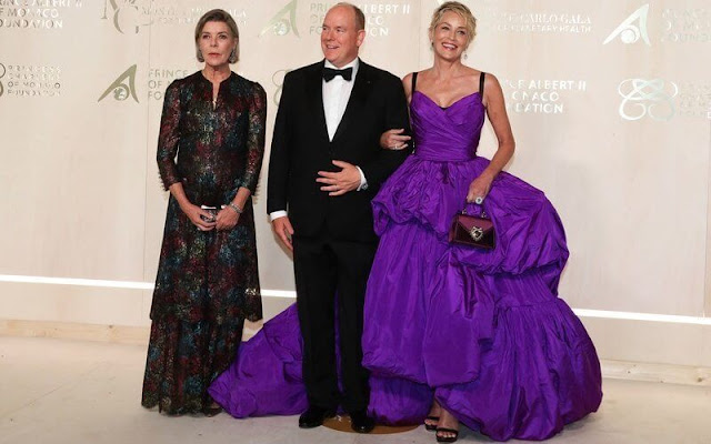 Princess Caroline wore a dress from Chanel Haute Couture Spring Summer 2021 collection. Pauline Ducruet