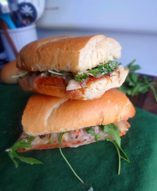 Chicken and Swiss Sandwich with Roasted Garlic Aioli for #SwissWeek