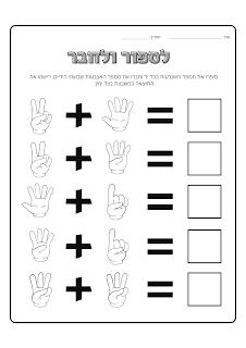 משחק ספירה וחיבור- תרגיל חיבור לכיתה א