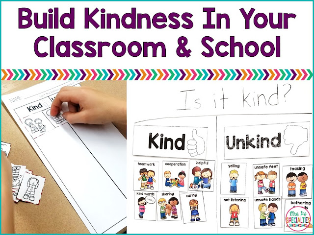 As we see more and more bullying and violence in school, it becomes especially important to build kindness in our students and classroom. Here are some simple ideas and FREEBIES for you!