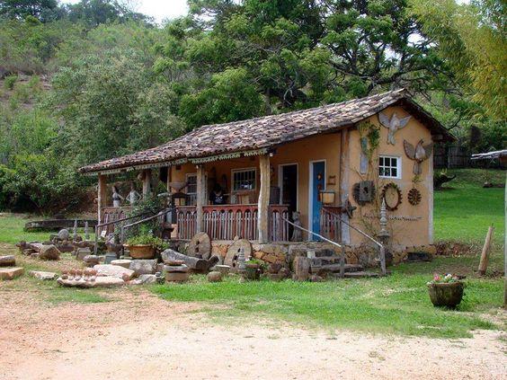 Formosa casa jeito de ro a for Modelos de water roca