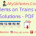 Problems on Trains with Solutions - PDF