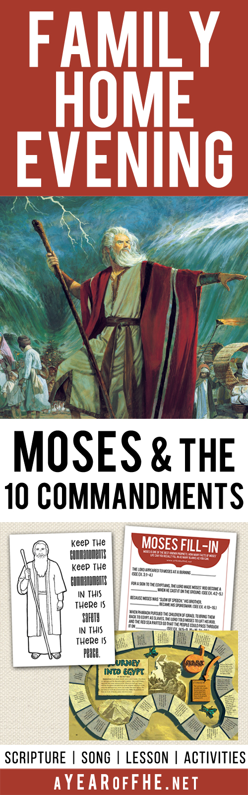 a year of fhe year 01 lesson 11 moses and the ten commandments
