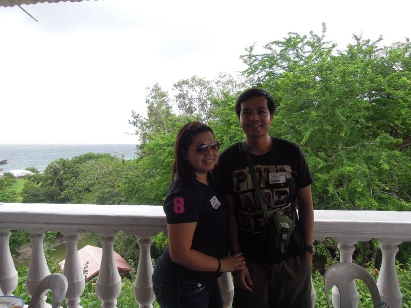 Enjoying the view after lunch at Corregidor Island