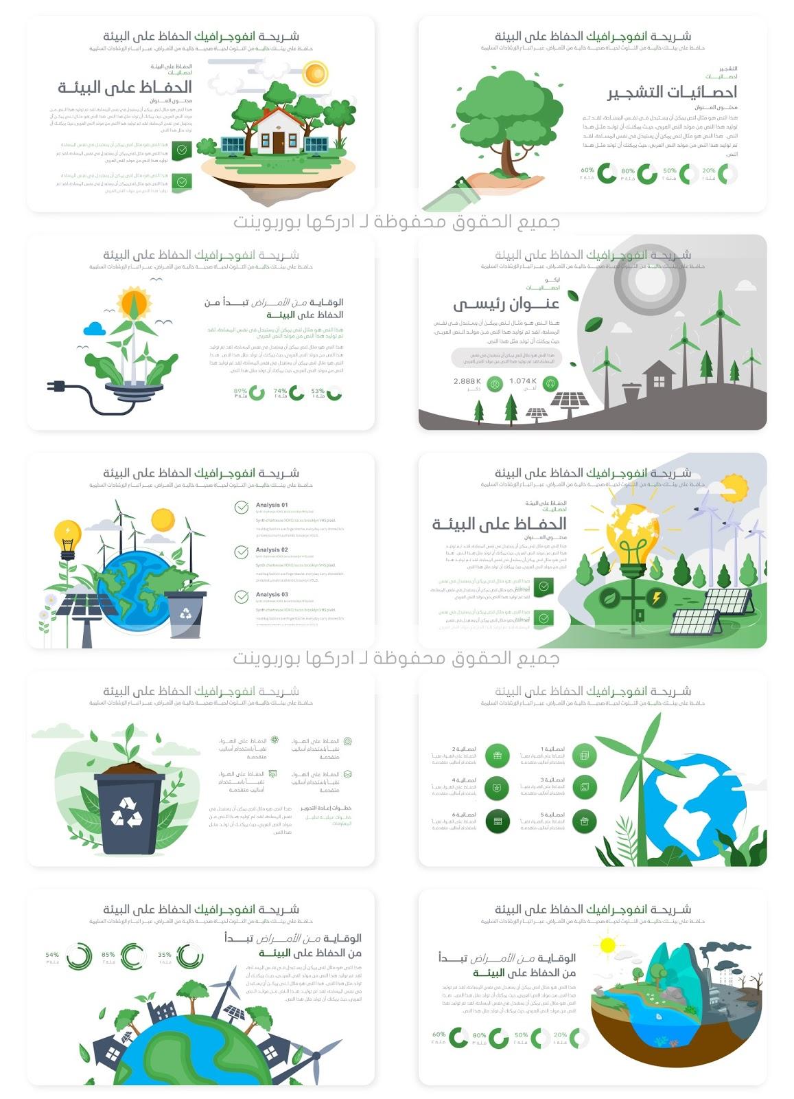 عرض بوربوينت عن التلوث وحماية البيئة