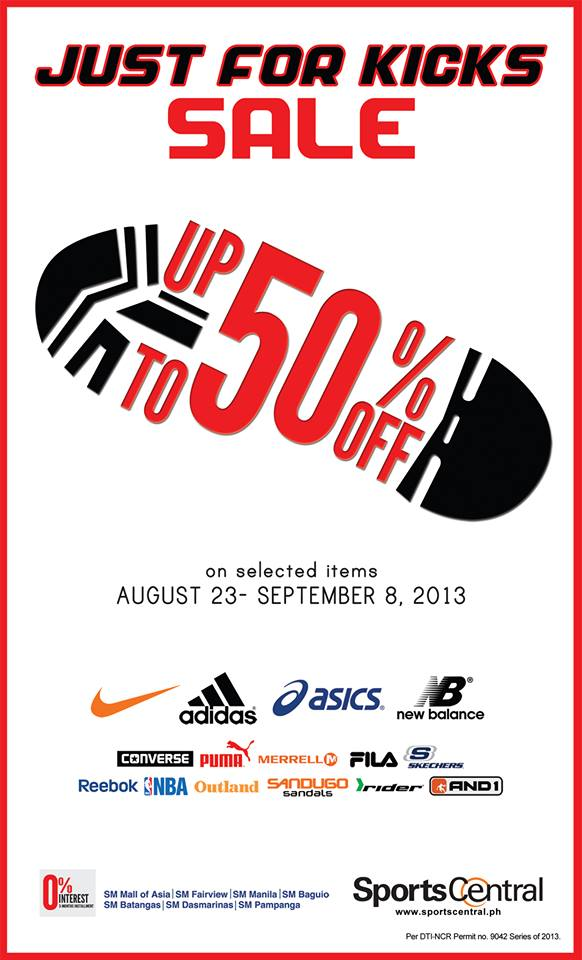Manila shopper august 2013 sports central just for kicks sale aug sept 2013 stopboris Choice Image