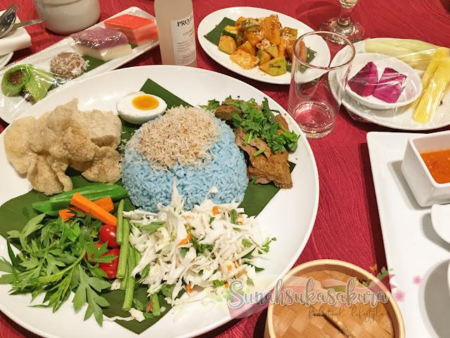 Nasi Kerabu RM48 per person