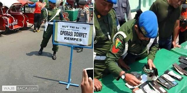 MasyaAllah, Personil TNI Lakukan Razia Dompet Kempes di Solo