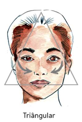 rosto-triangular