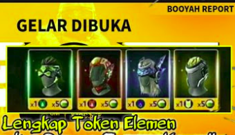 Topeng free fire event booyah report