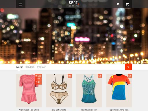 14. Blogger Shopping Template