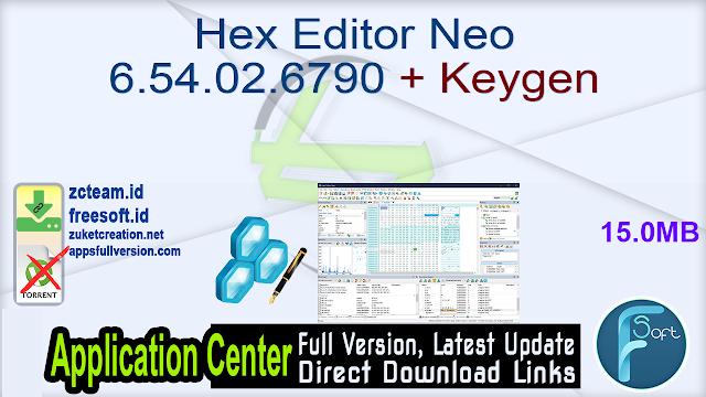 Hex Editor Neo 6.54.02.6790 + Keygen_ ZcTeam.id