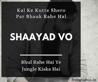 Kal-Ke-Kutte-Shero-Par-Bhauk-Rahe-Hal - Attitude-Status