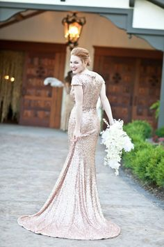 Dont You Ever Demanded Over These Breathtaking Metallic Sequin For Alternative Non Traditional Wedding Dresses Glamor