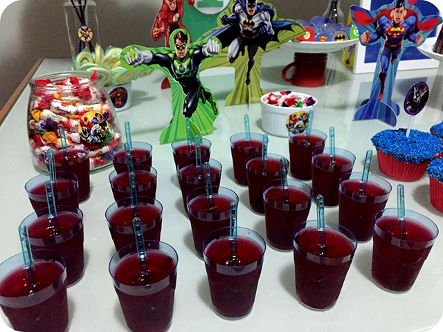 Decoração Festa da Liga da Justiça - Super Heróis : Gelatinas