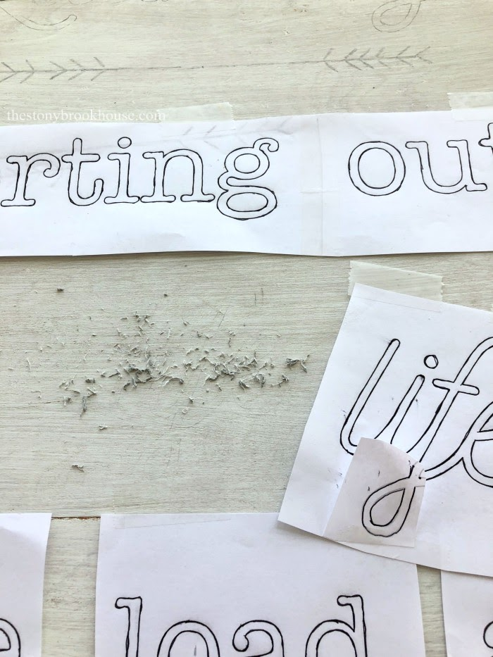 sign making - changing font style