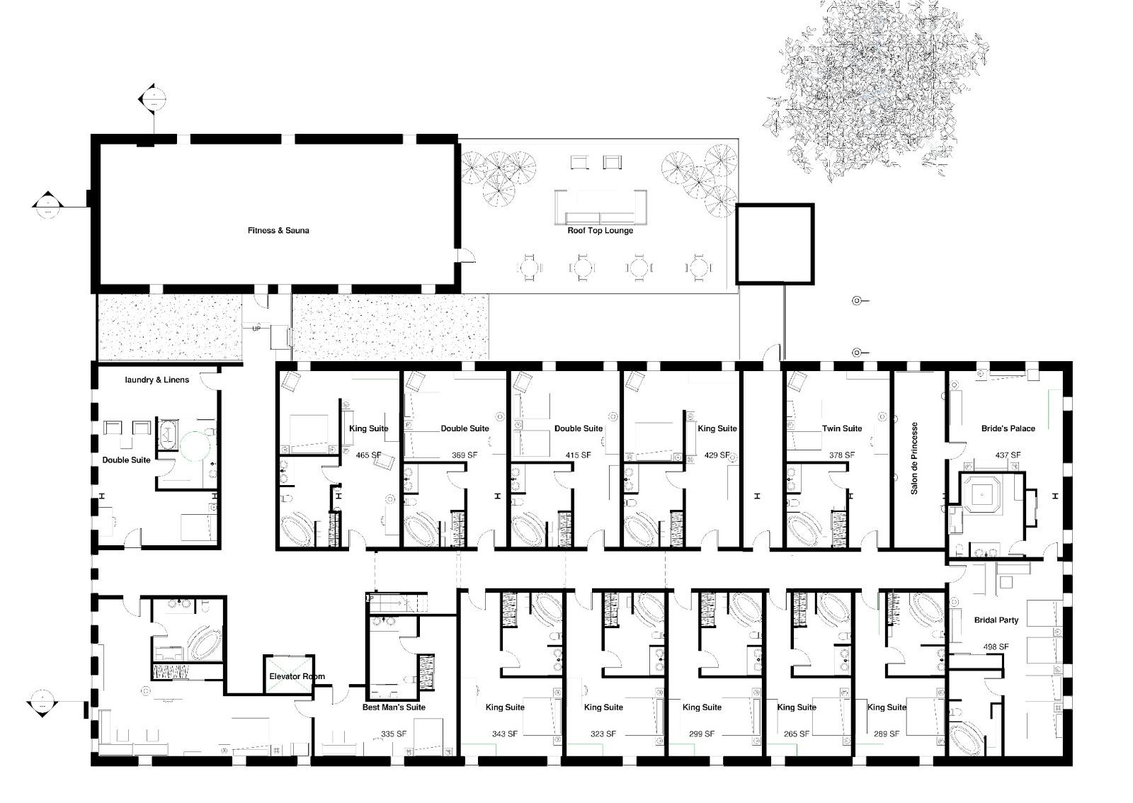 Small Hotel Room Floor Plans Thefloors Co