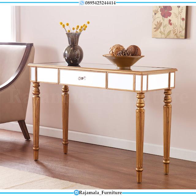 Set Meja Konsul Minimalis Jepara Terbaru Golden Classic Luxury RM-0523