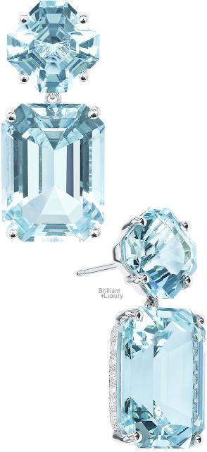 Brilliant Luxury♦Paolo Costagli Aquamarine And Diamond Earrings