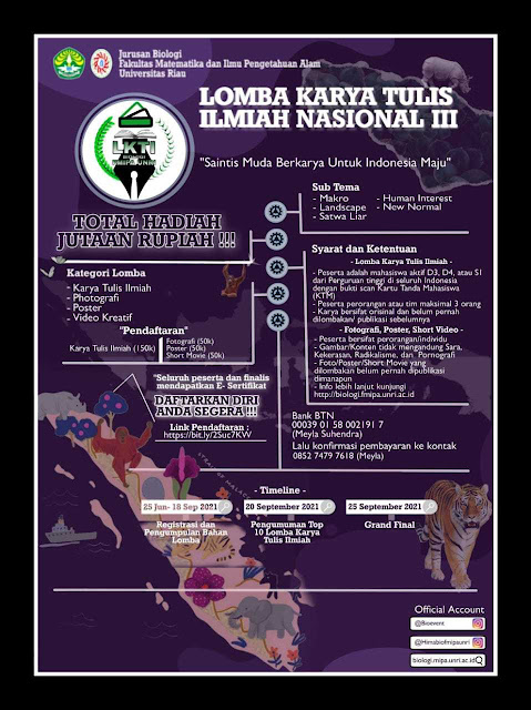 BIO EVENT    Lomba Karya Tulis Ilmiah (LKTIN) III