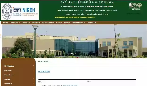 ICMR-NIREH Recruitment for JRF|Project Assistant|Technician [icmr.nic.in]