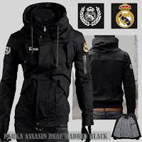 Jual Jaket Bola Parka Assasin Real Madrid Logo Lepas Pasang