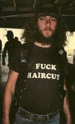 """FUCK HAIRCUT"" shirt.  PYGear.com"