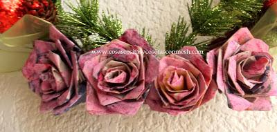 rosas-periódico-reciclado