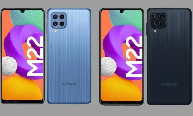 Samsung Galaxy M22 Renders and Specifications Leak