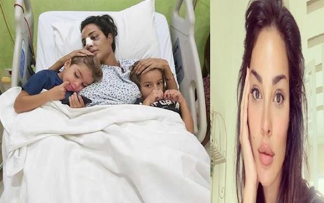 صورة لـ نادين نسيب نجيم من المستشفى بعد إصابتها في انفجار بيروت لبنان