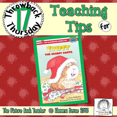Fluffy the Secret Santa by Kate McMullen TBT - Teaching Tips.