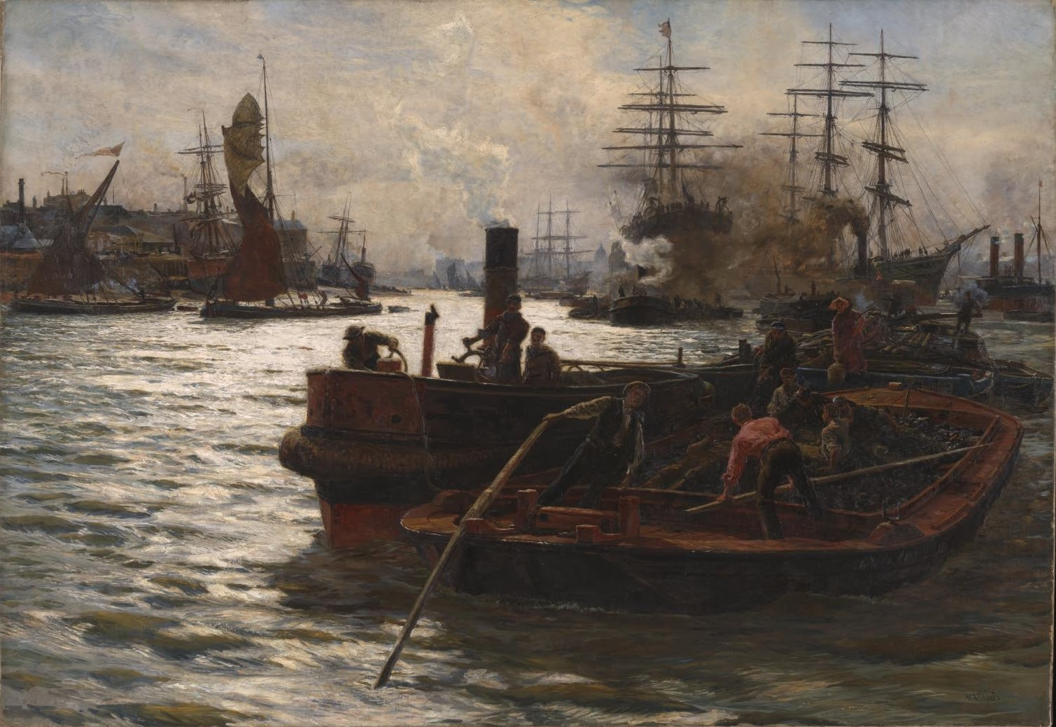Charles William Wyllie Toil Glitter Grime and Wealth on a Flowing Tide Tate London