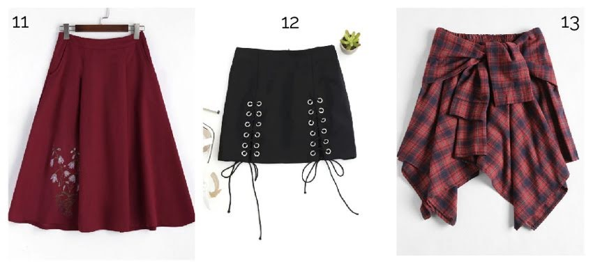 Skirts from Zaful
