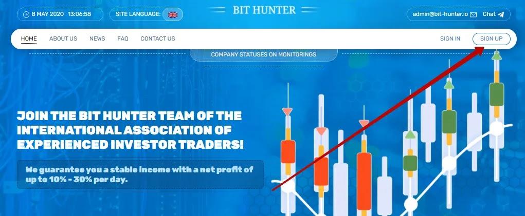 Регистрация в Bit Hunter