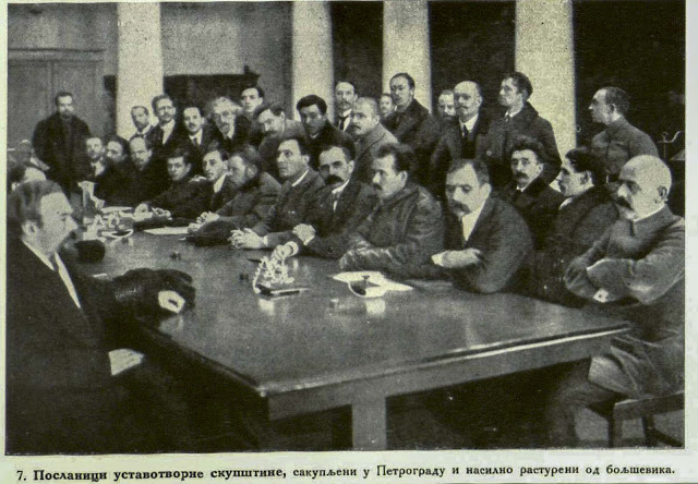 The delegates of the Constitutional Parliament assembled in Petrograd, were forcibly chased away by Bolsheviks