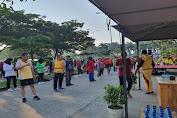 Cegah Corona, Polres Serang Gelar Olahraga Bersama