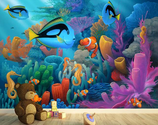 Luonto Tapetti Lasten Tapetti Akvaario Kala