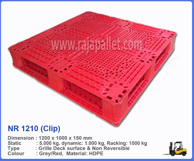 Pallet Plastik Medium Duty NR 1210 (Clip)