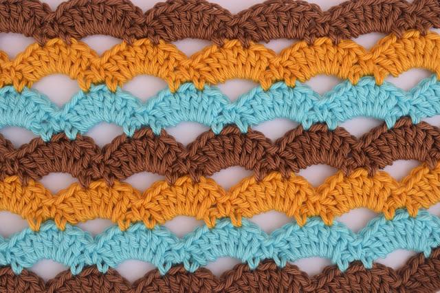 1 - Crochet Imagen Puntada de abanicos a crochet para blusas por Majovel Crochet