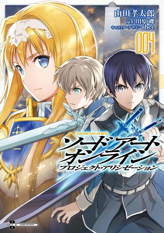 Portada del volumen 4 del manga Sword Art Online: Project Alicization