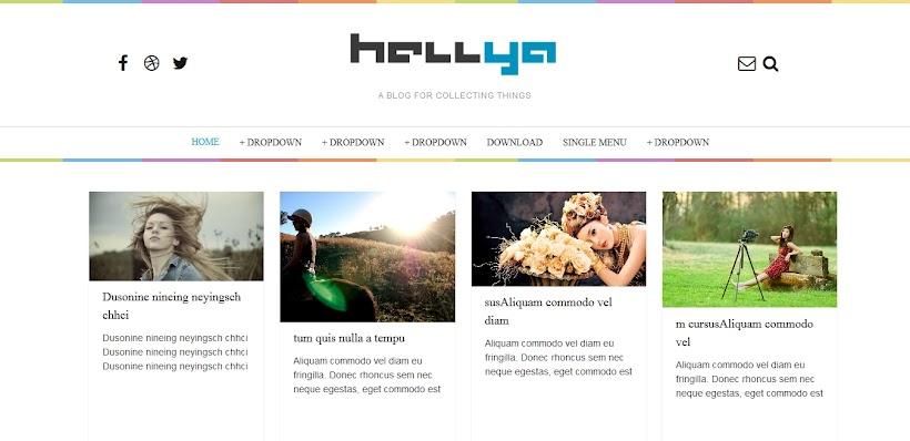 Hellya Free Blogger Template