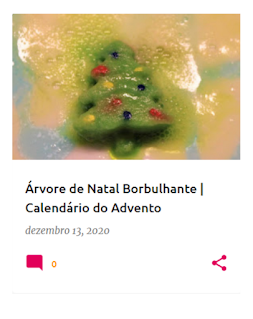 experiência com uma árvore de Natal efervescente
