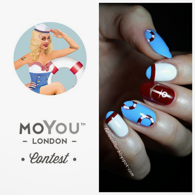marine sailor nautical nail art moyoulondon contest