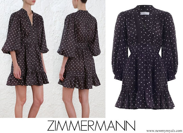 Crown Princess Mette-Marit wore Zimmermann Prima Dot Mini Dress