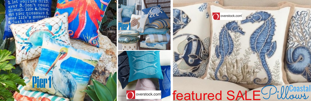 Coastal Pillow Sale at Pier 1 and Overstock
